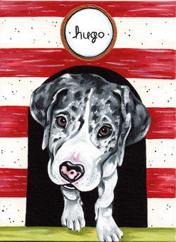 introducing hugo, whirleygirl designs original painting